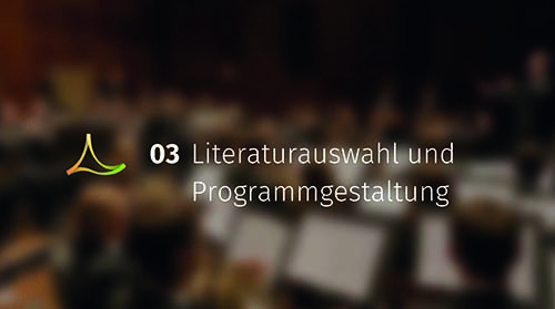Literaturauswahl und Programmgestaltung