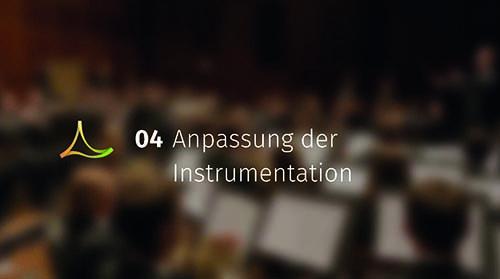 Anpassung der Instrumentation
