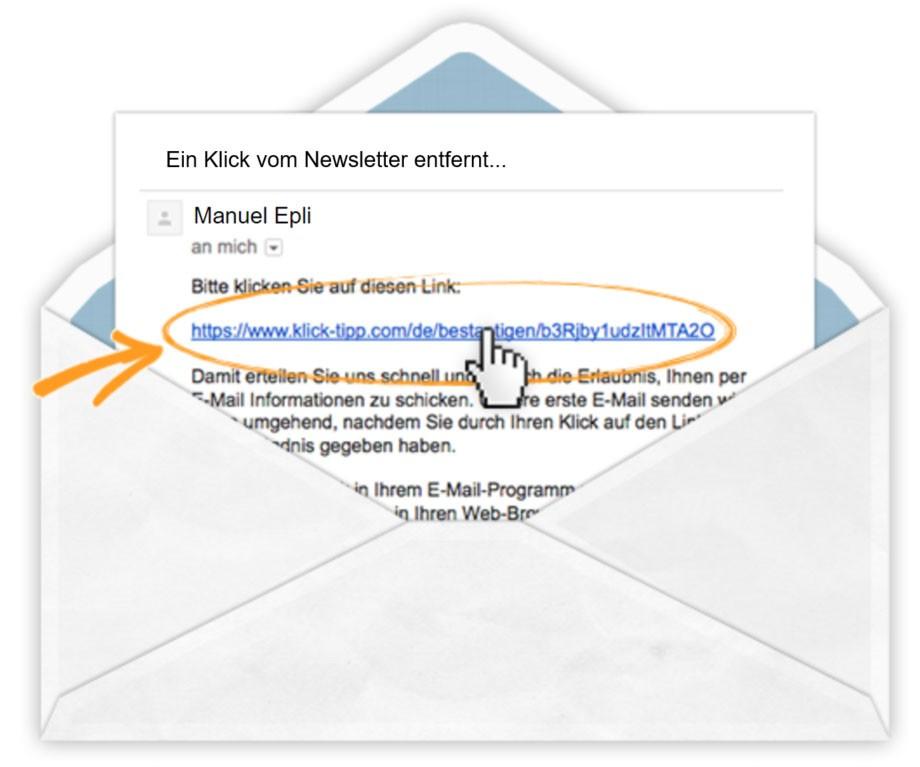 Ein Klick vom Newsletter entfernt