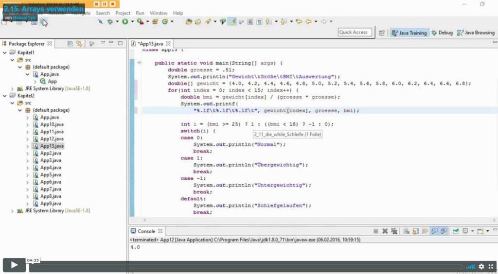 Java Basiskurs 2.15. Titelbild