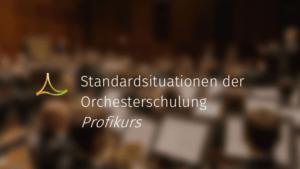 Standardsituationen der Orchesterschulung - Profikurs