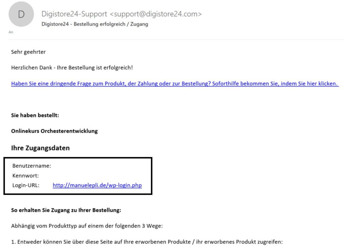 Login Online-Akademie (Website)